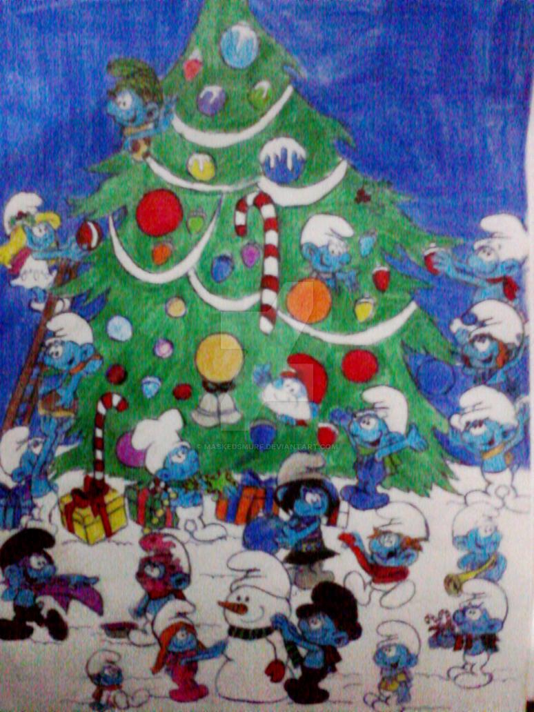 Smurfs Christmas.Smurfs Christmas By Maskedsmurf On Deviantart