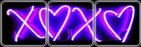 Purple Neon Love (F2U) by CosmicStardustTea