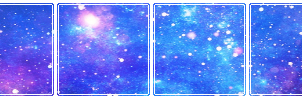 Blue and Purple Space
