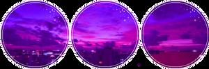Purple City Sky by CosmicStardustTea