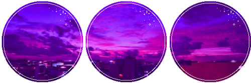 Purple City Sky by GlitchyXenon