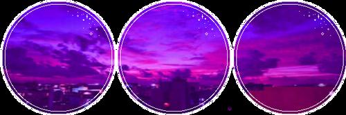 Purple City Sky by GlitchyXenon