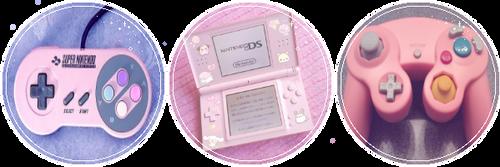Pink Nintendo  by GlitchyXenon