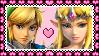 Link x Zelda Stamp by MissToxicSlime