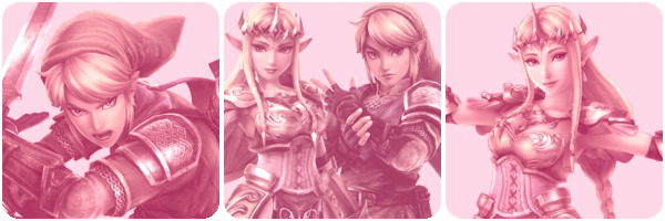 Hyrule Warriors -  Zelink Pink Divider