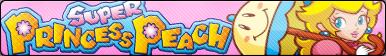 Super Princess Peach Fan Button by CosmicStardustTea