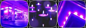 Purple Neon Divider 3 by CosmicStardustTea
