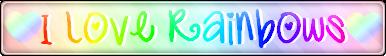 I Love Rainbows Fan Button by MissToxicSlime