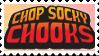 Chop Socky Chooks Fan Stamp by CosmicStardustTea