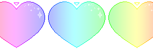 Rainbow Hearts Divider