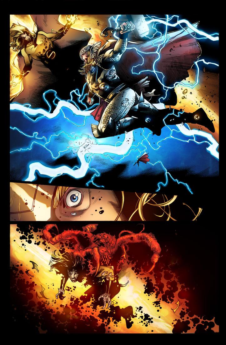 Thor vs The sentry by jadecks on DeviantArt