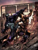 Venom vs Wolverine by jadecks