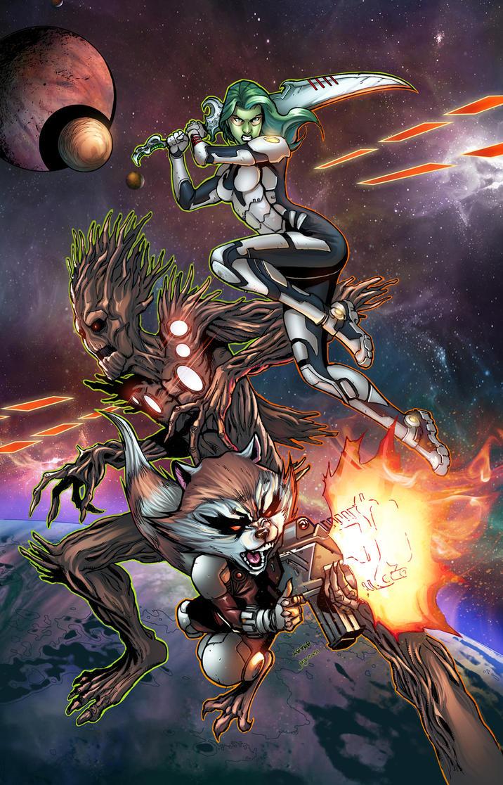 Guardians if the Galaxy by jadecks