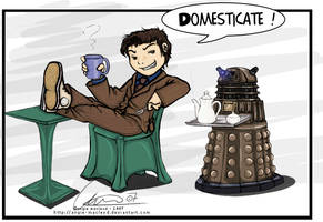 Tea Time for Daleks by ValkAngie