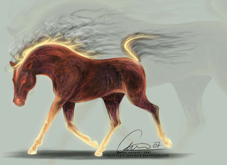 And, Over and Over Again Burning_Horse_by_angie_macleod