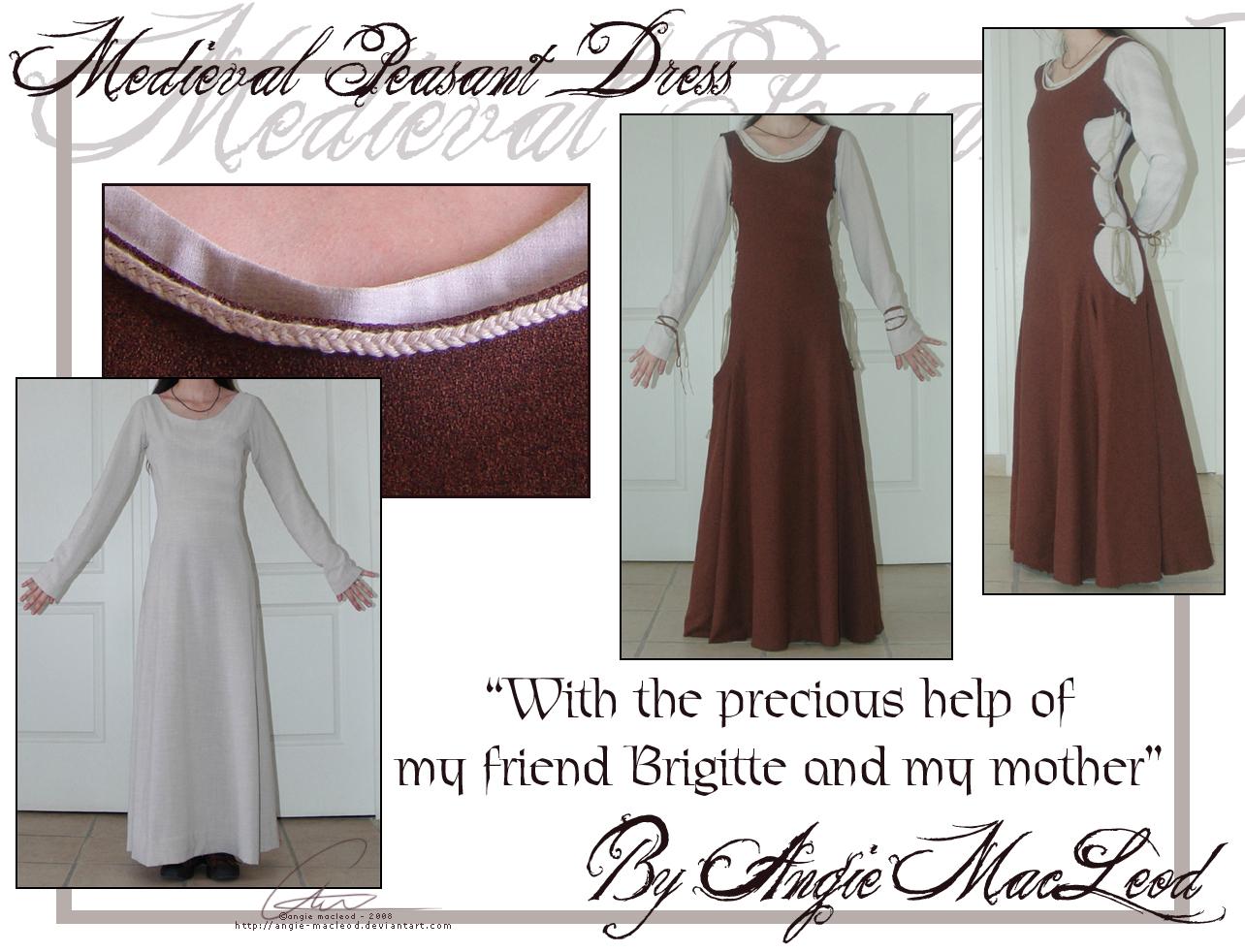 medieval peasant dress by valkangie on deviantart