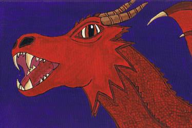 Dragon on canvas by ashblackphoenix