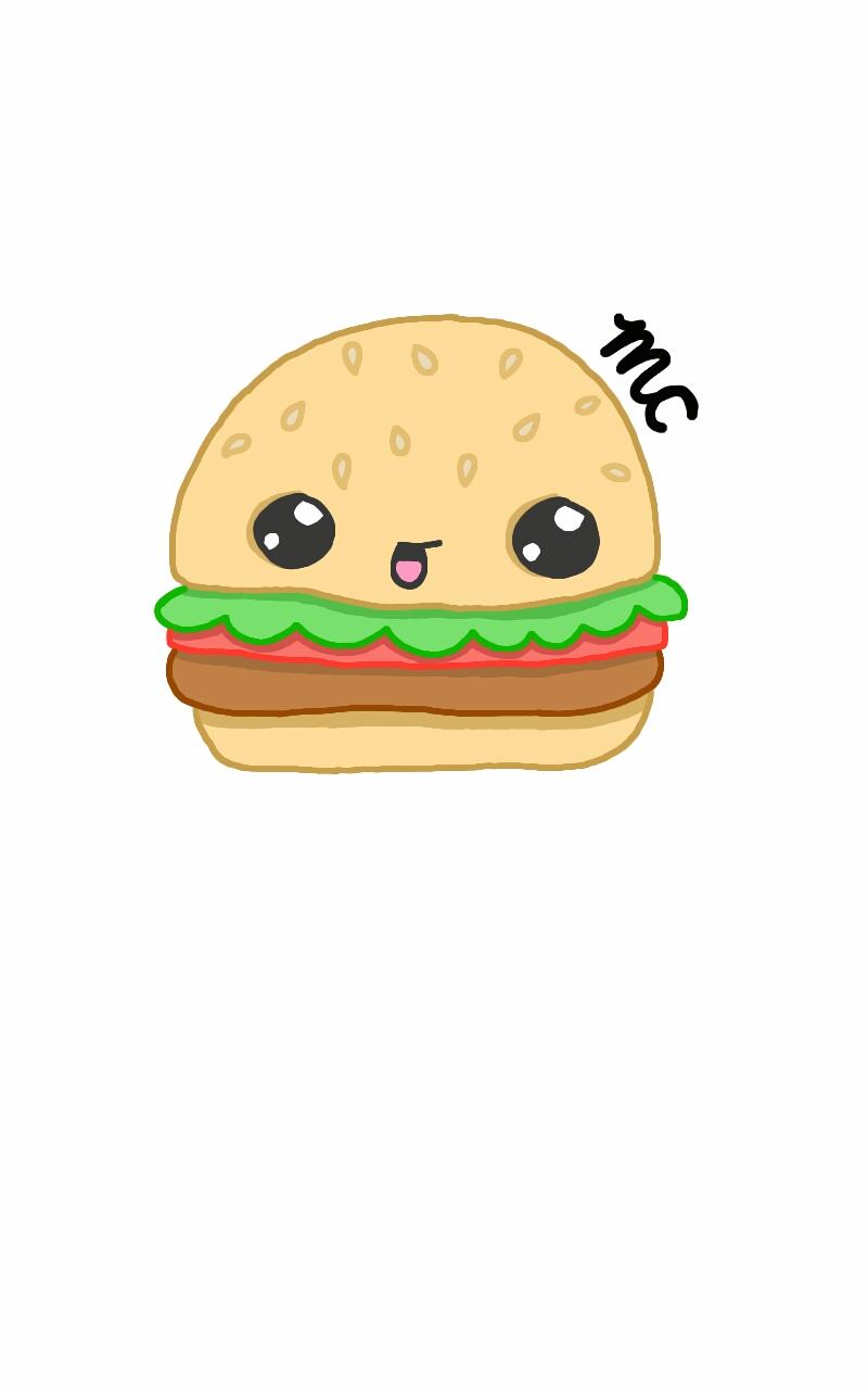 how to draw a hamburger easy