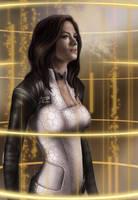 ME2: operative Miranda Lawson by Spiritius