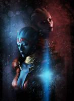 ME2: Samara and Morinth by Spiritius