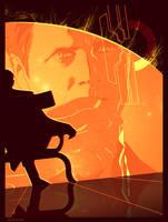 ME2: illusive man poster by Spiritius
