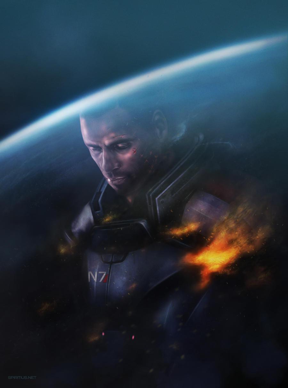 ME3: Shepard by Spiritius