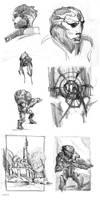 mass effect sketch practice