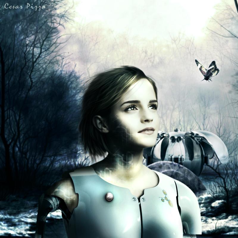 Robot Woman - Emma Watson by cesarpizza