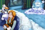 Frozen snow ball fight