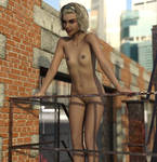 Tandi - On The Fire Escape by TheSamey