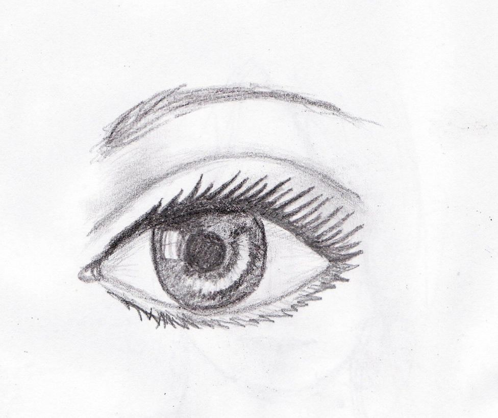 how to make an eye sketch