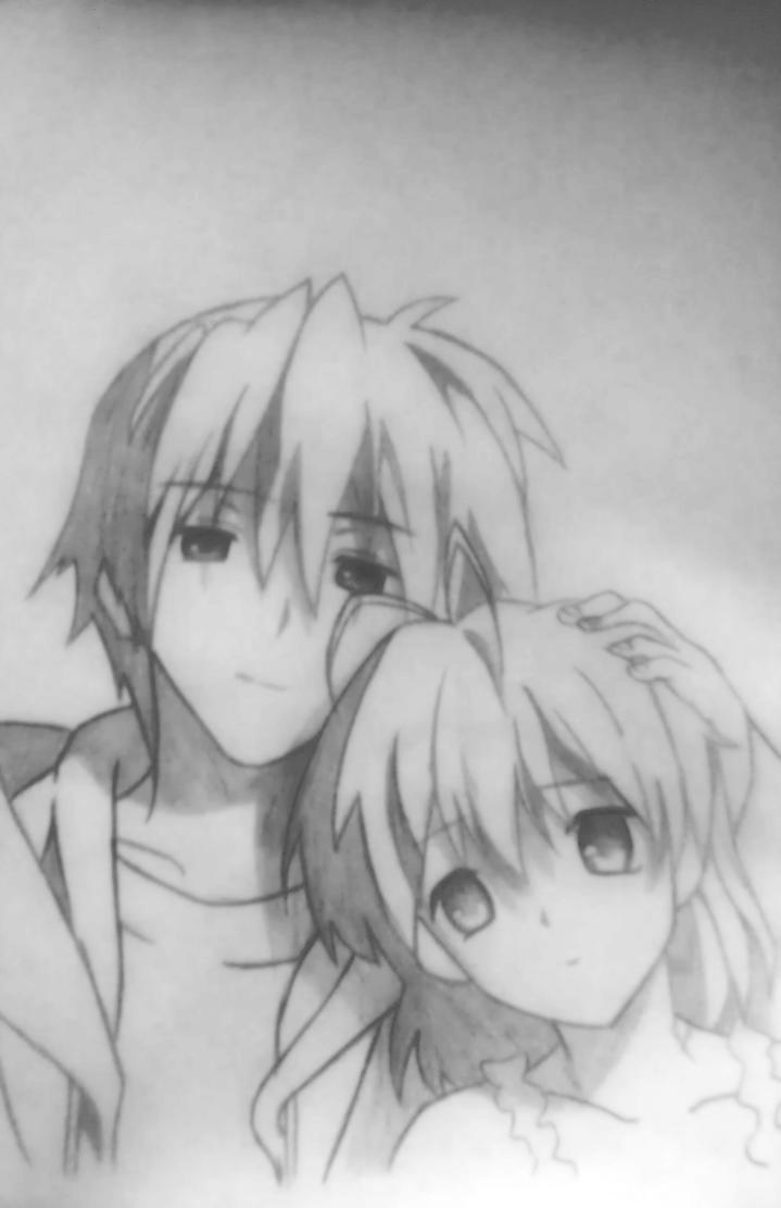 Clannad || Tomoya and Nagisa by IamJamesD on DeviantArt