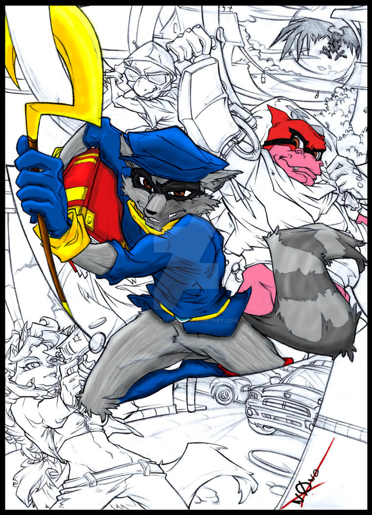 Coloring Pages Sly Cooper Coloring Pages my sly cooper coloring project wip by lonewolfchan on deviantart lonewolfchan