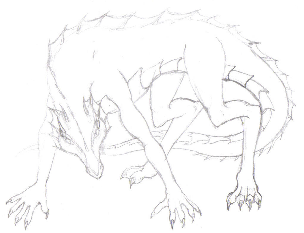 Dragon dog creature by webspinner
