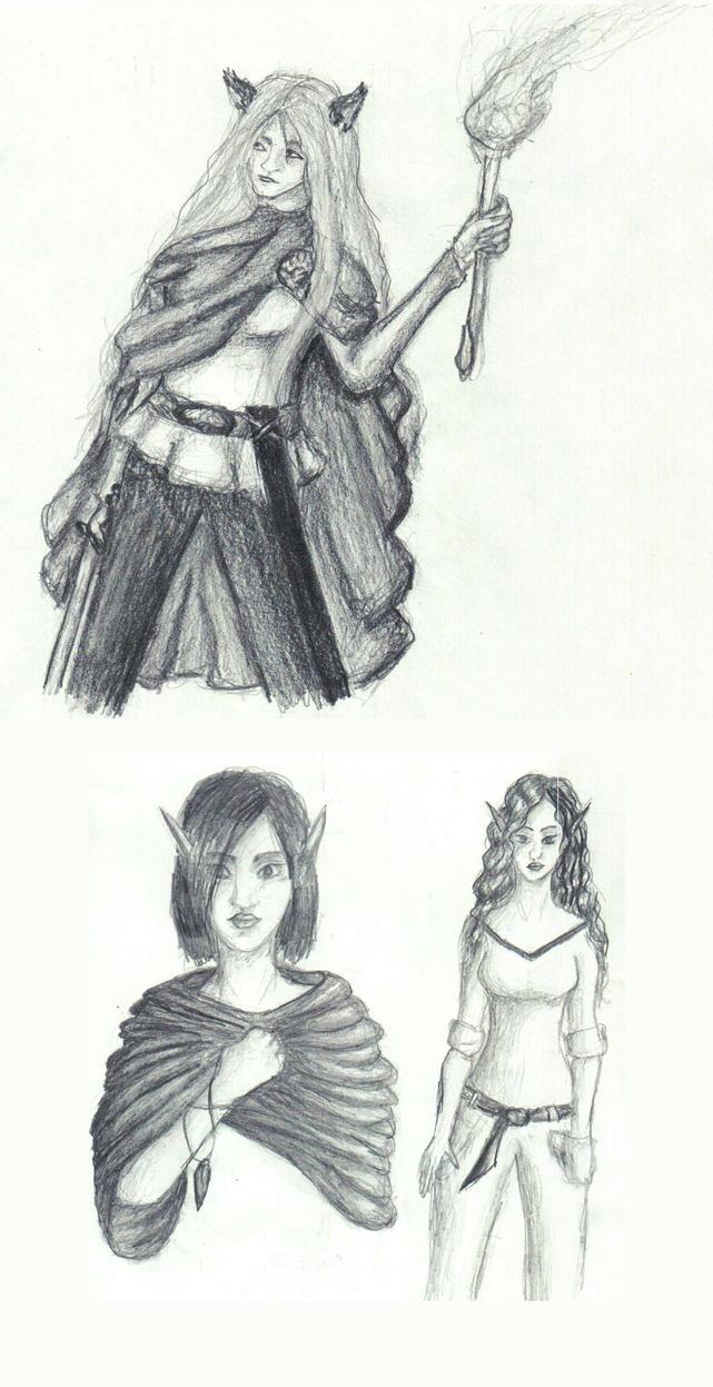 Sketchessss.... by Assandra