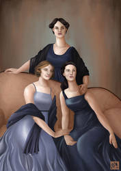 The Crawley sisters by Mysterier