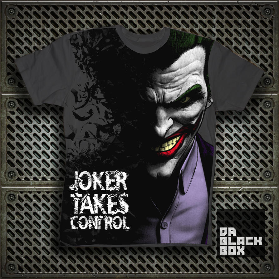 Shirt design of 2014 - Joker Takes Control T Shirt Design By Erik Rojas By Dablackbox