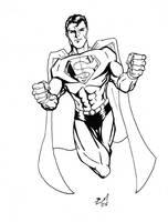 superman Inks by BradMatthews