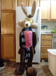 Large lifesize stuffed Wile E Coyote plush toy 1