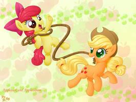 Apple sisters by LordYanYu