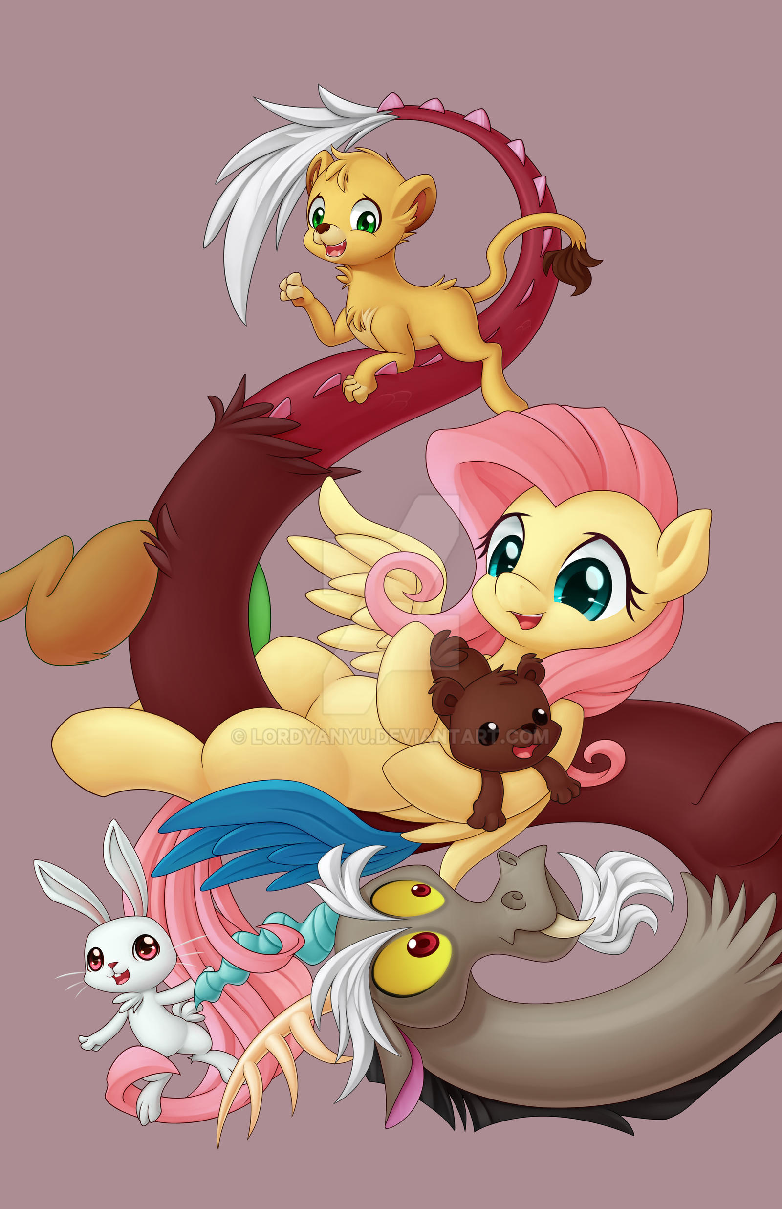 Baby Discord And Fluttershy Fluttershy and ...