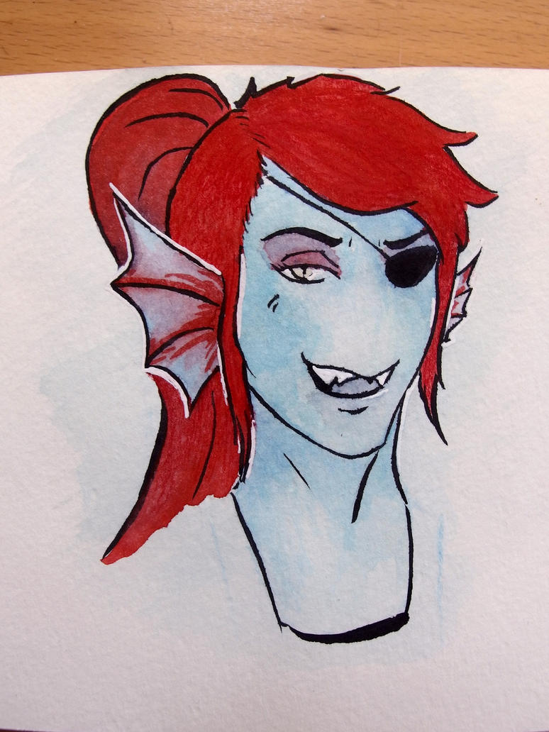 Undyne Test by Lauridia