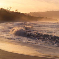 Costa Rican Beach At Dusk by 123rfanna
