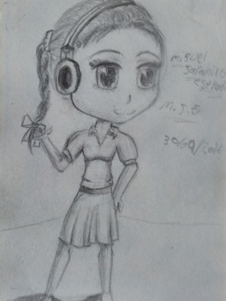one drawing of a friend in chibi by 16miguel