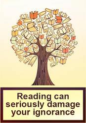 Vintage Reading damage your ignorance by Richard67915