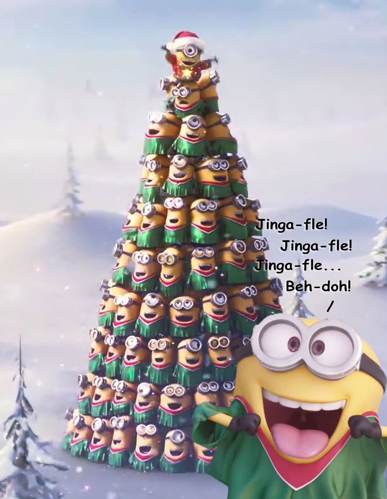 minion xmas tree jinga fle by richard67915 - Minion Christmas Tree