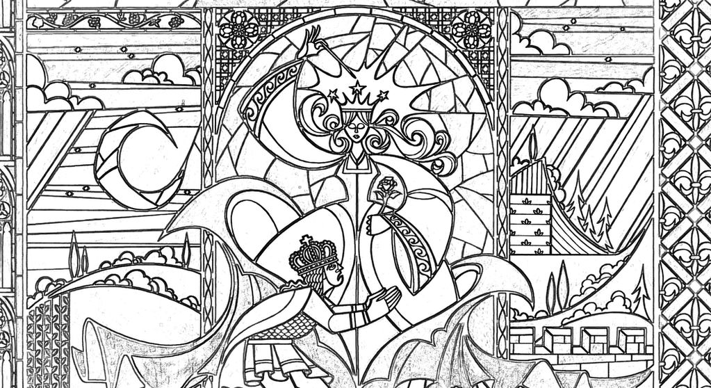 Fairy Stained Glass Coloring Page by Richard67915 on DeviantArt