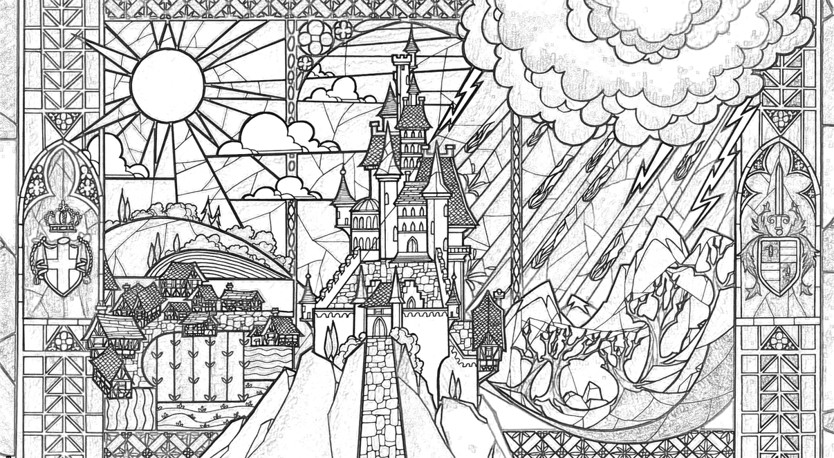 Beauty Beast Castle Coloring Page by Richard67915 on DeviantArt