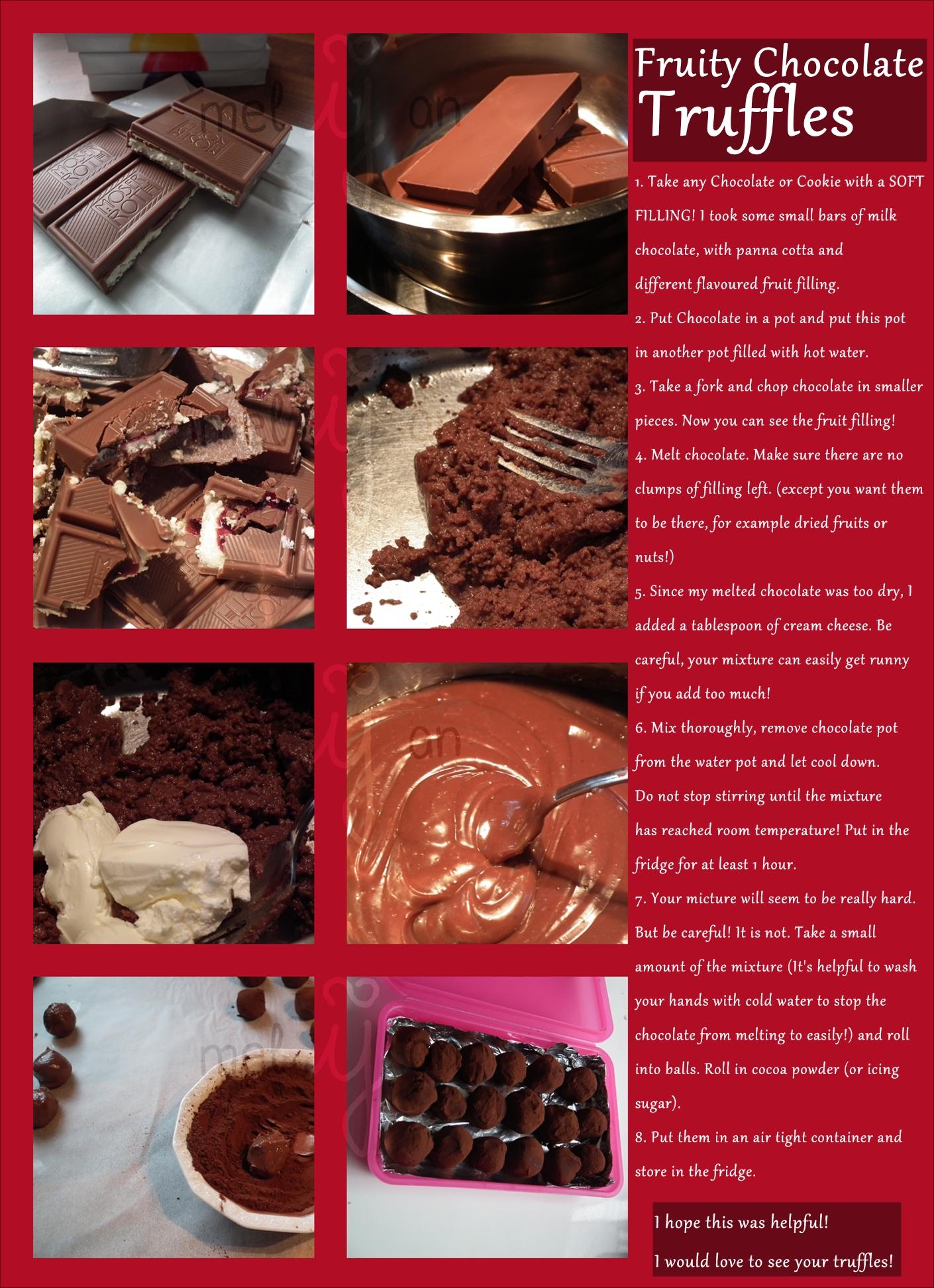 Fruity Chocolate Truffles Recipe by melijan