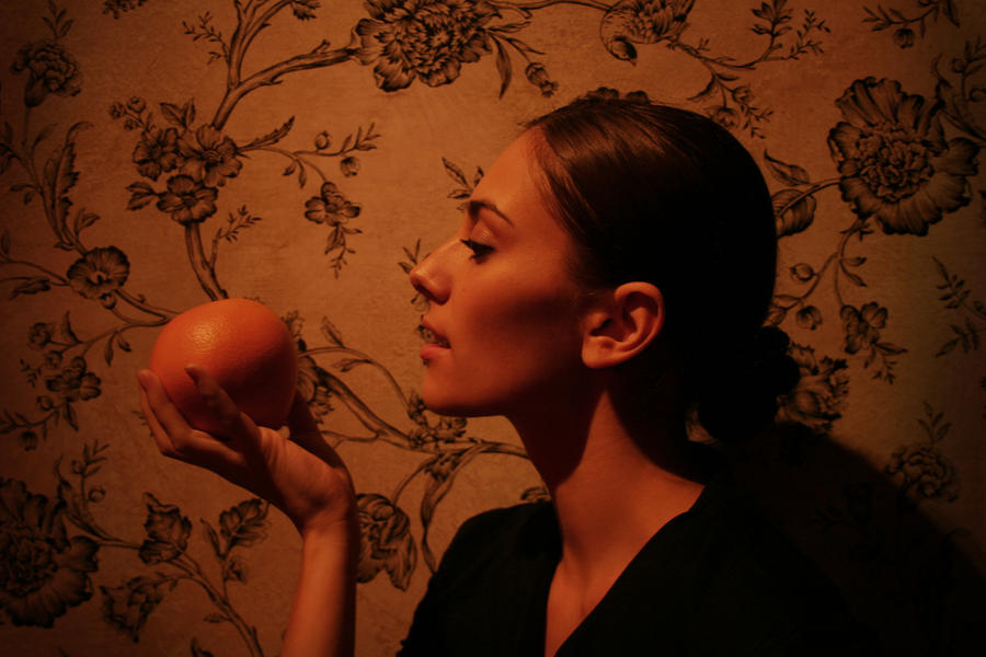 Girl with an Orange by fo0losophy